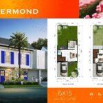 Layout Denah Rumah, type Roermond, Cluster Rotterdam, Citra Harmoni, Sidoarjo