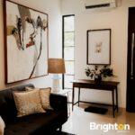 Living Room, Rumah Farmington di Boulevard perumahan Grand Harvest, Surabaya