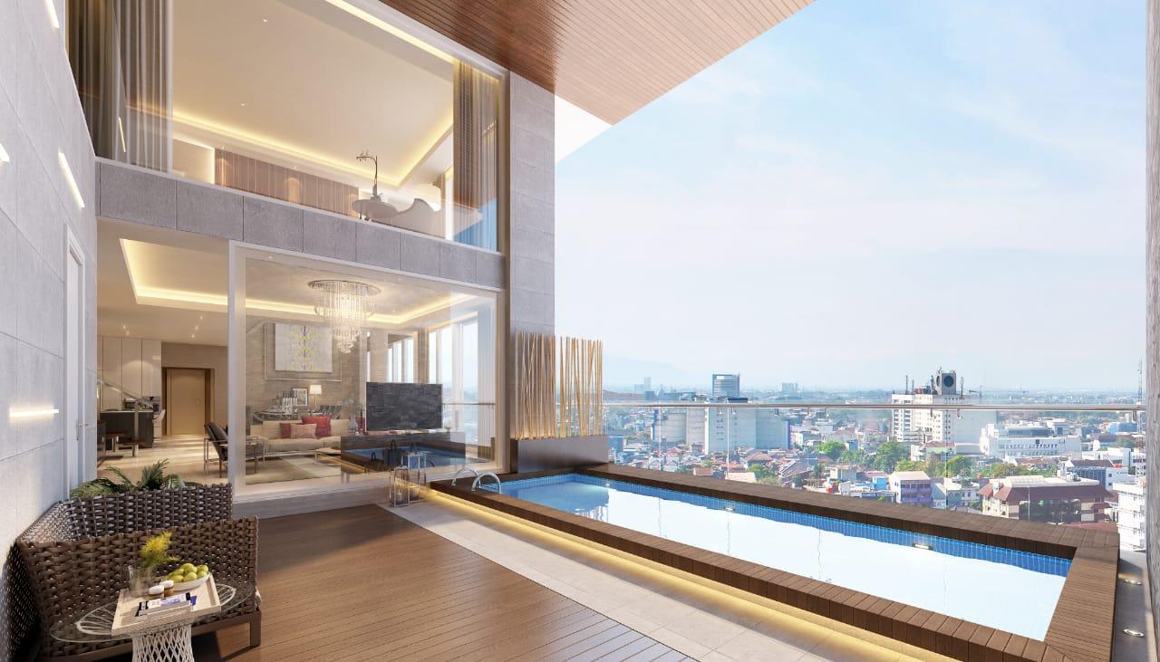 Private Infinite Pool Deck, VOILA Apartemen, SuperPenthouse, Ciputra World Mall, Surabaya