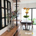 Ruang Makan, Rumah Farmington di Boulevard perumahan Grand Harvest, Surabaya