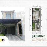 Tampak Depan dan Layout, Type Jasmine, SpringVille Residence, Kalirungkut MERR, Surabaya