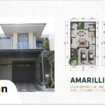 Tampak Depan dan Layout, Type Amarillis, SpringVille Residence, Kalirungkut MERR, Surabaya