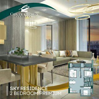 Unit 2 Bedroom Premium, Sky Residence, Apartemen Mewah di Atas Ciputra World Mall, Surabaya