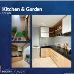 Kitchen dan Garden, Type Viola, Oakwood Park, Citraland Utama, Surabaya