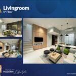 Living Room, Type Viola, Oakwood Park, Citraland Utama, Surabaya