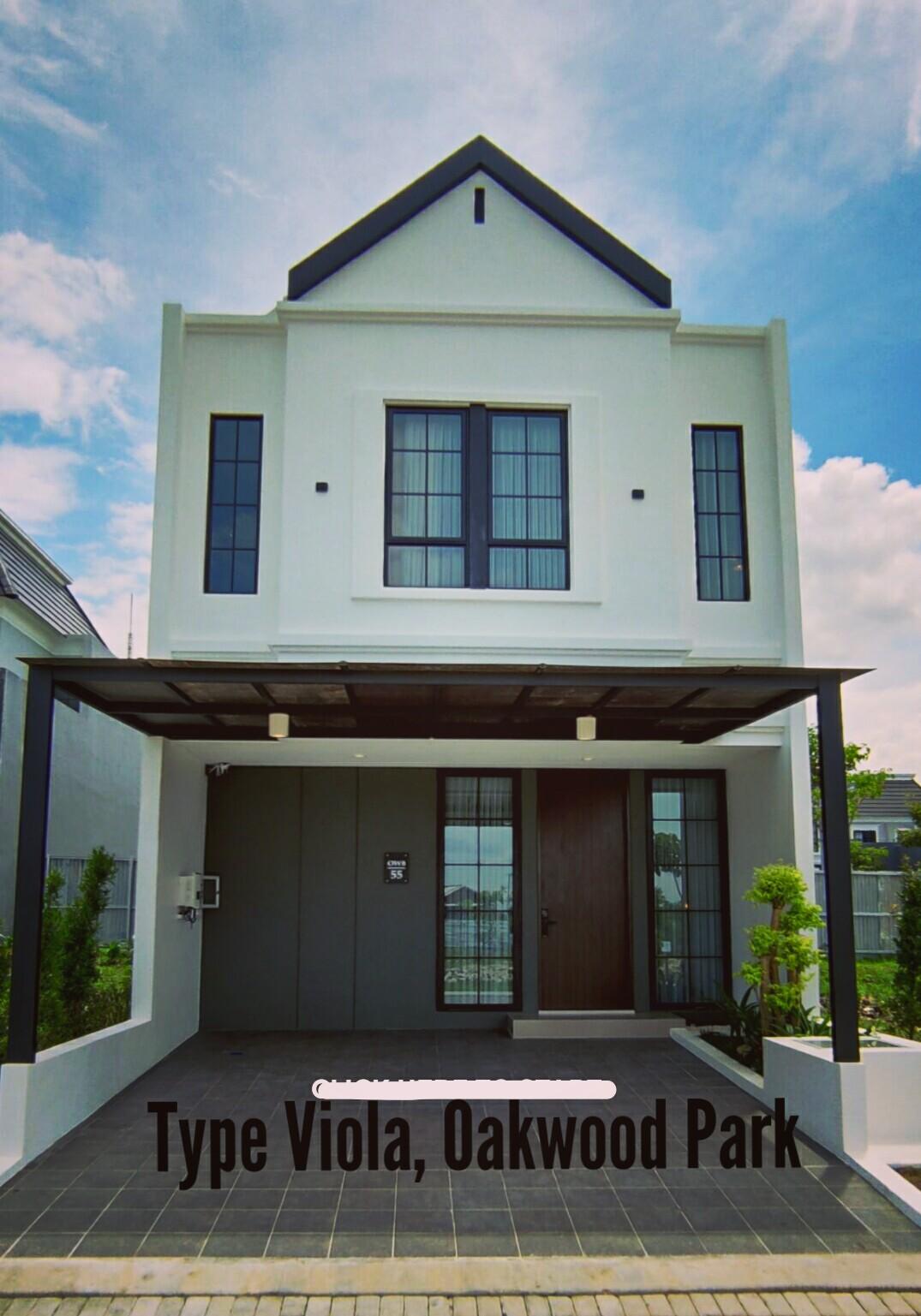 Rumah Modern Minimalis, Type Viola, Oakwood Park, Citraland Utama, Surabaya