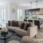 Living Room & Dining Room, Type Hawthorne, Magnolia, Graha Natura, Surabaya Barat