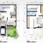 Layout Rumah Minimalis di Beverly Avenue, MERR, Gunung Anyar, Surabaya