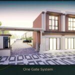 Tampak Depan Gate Perumahan Beverly Avenue, Rumah Minimalis Hanya 850juta Saja, MERR, Gunung Anyar, Surabaya