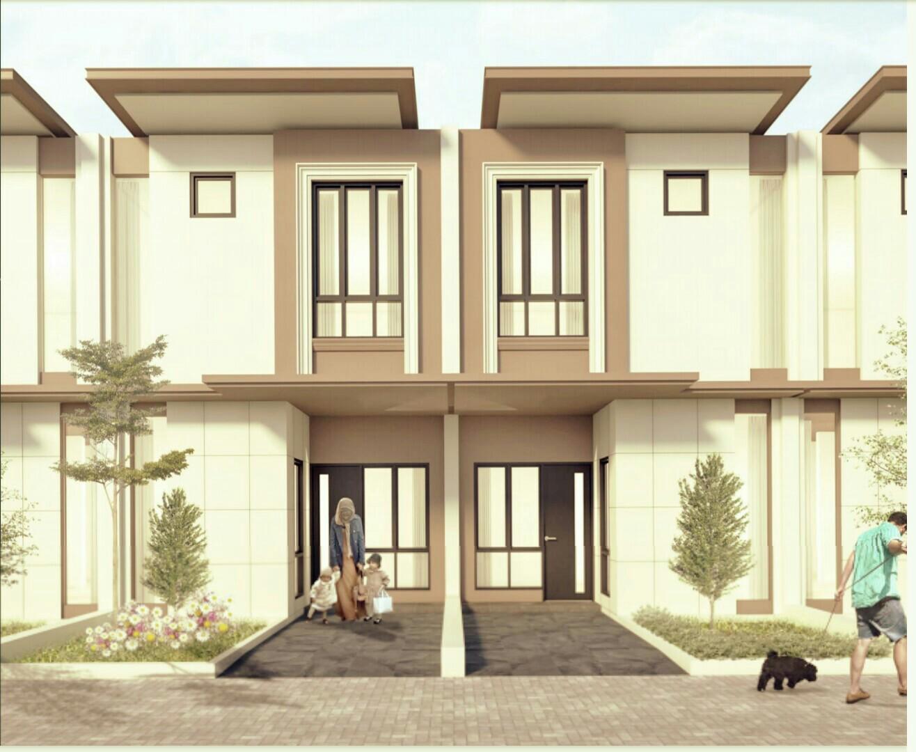 Tampak Depan Rumah Minimalis di Beverly Avenue, MERR, Gunung Anyar, Surabaya